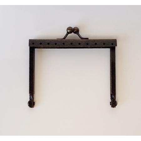 Armação 8cm x 6cm Grav c/ furos p/ costura Ouro Velho