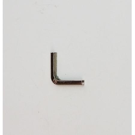 Cantoneira 14mm x 14mm Niquelada