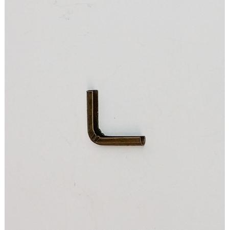 Cantoneira 14mm x 14mm Ouro Velho