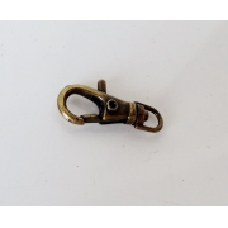 Mini Mosquetão 4mm Ouro Velho