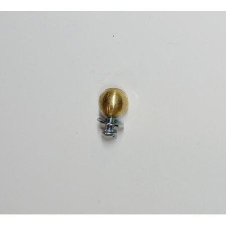 Puxador Latão Esfera 11mm Latonado