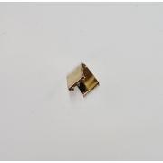 Remate de Alça 11mm c/ Garra Dentada Latonado