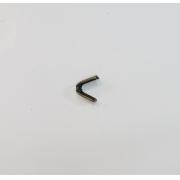 Remate de Alça 6mm Garra Dentada Ouro Velho