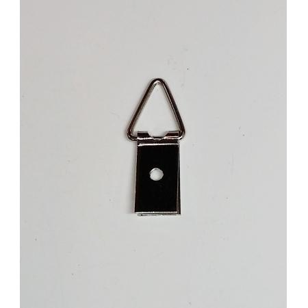 Suporte p/ Quadros 10mm x 35mm 1 Furo Niquelado