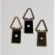 Suporte p/ Quadros 10mm x 35mm 1 Furo Ouro Velho