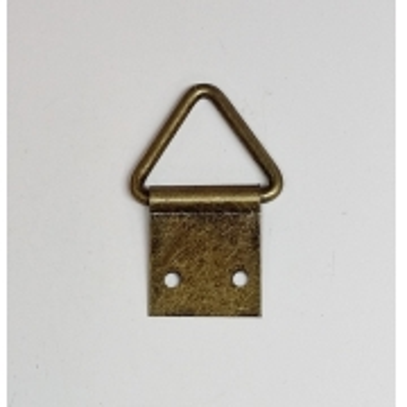 Suporte p/ Quadros Triângulo 18mm x 41mm Ouro Velho