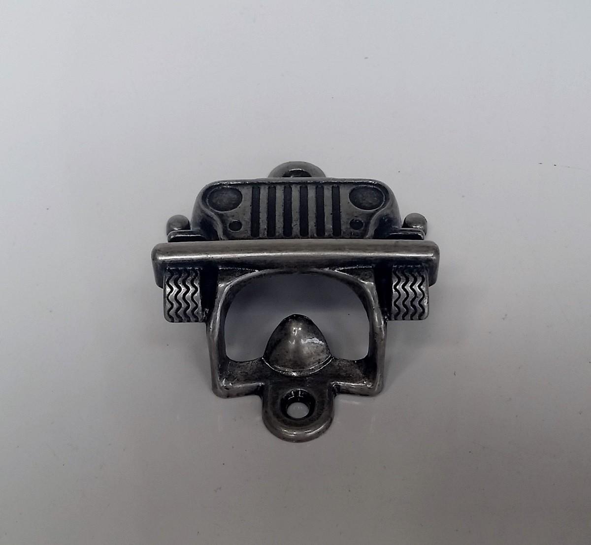 Abridor de Garrafa Jeep Prata Velha