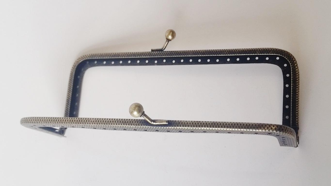 Armação 14cm x 5cm c/ furos p/ costura Ouro Velho