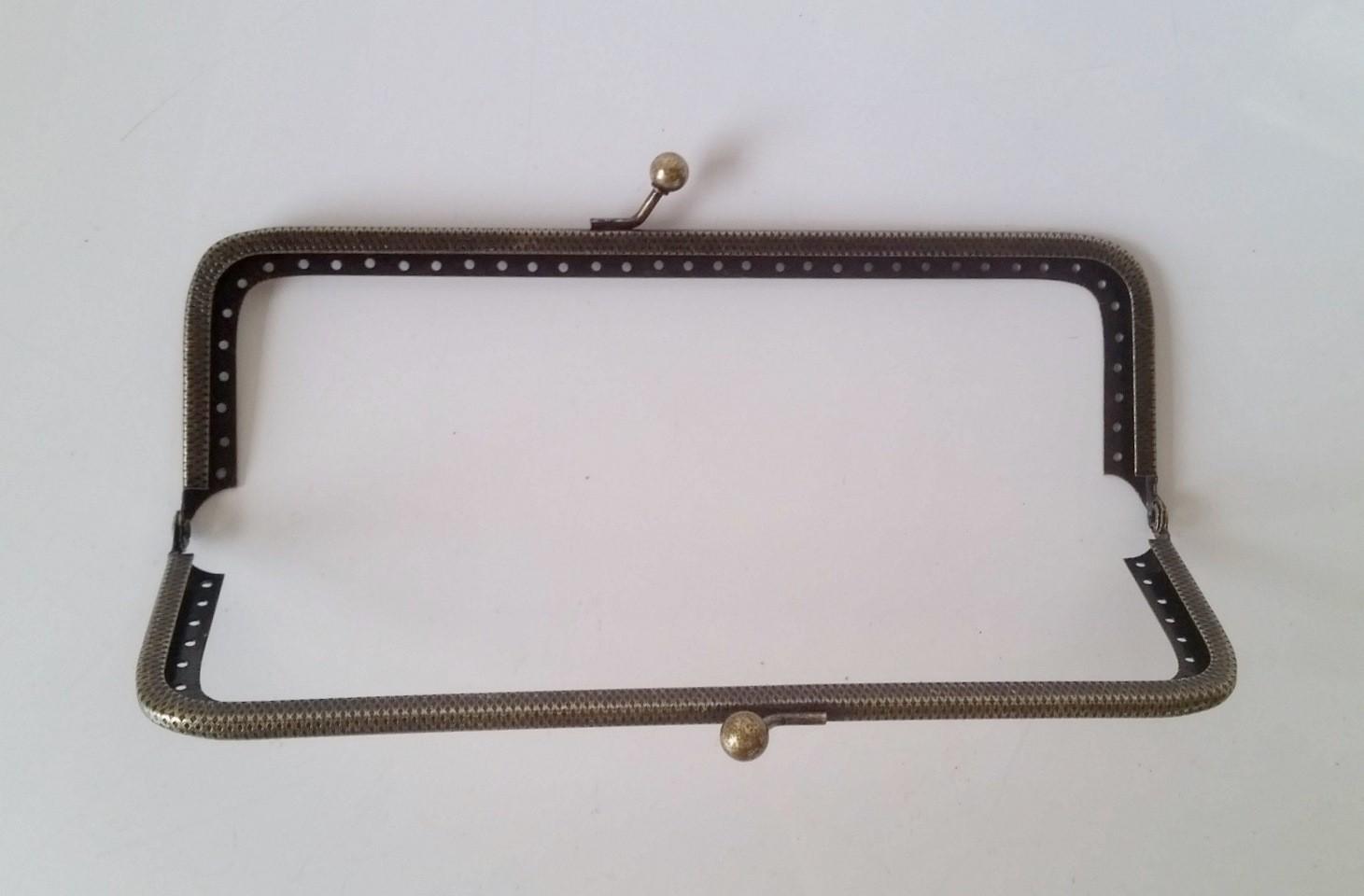 Armação 16cm x 5cm c/ furos p/ costura Ouro Velho