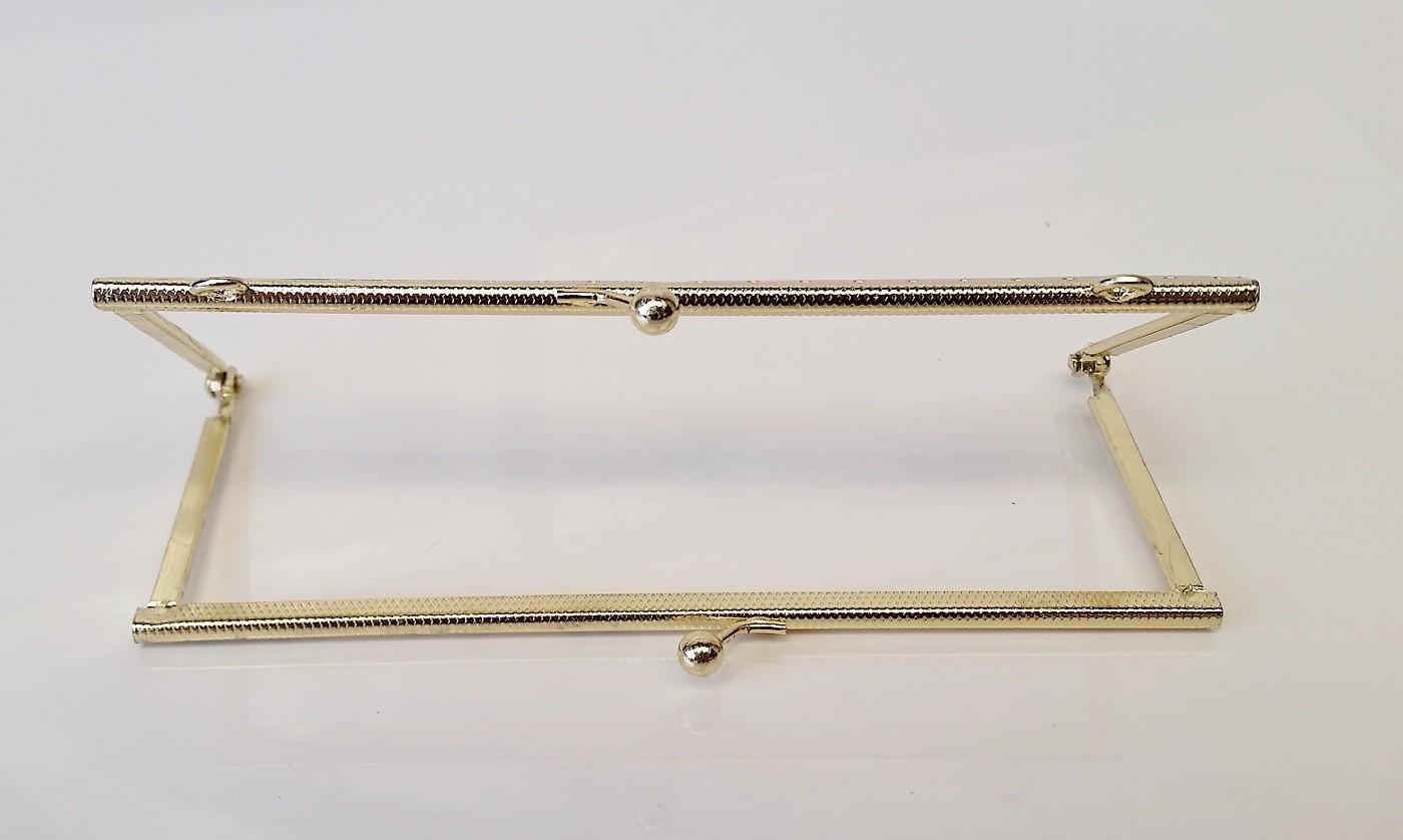 Armação 16cm x 6cm Gravada c/ furos e argolas Latonada