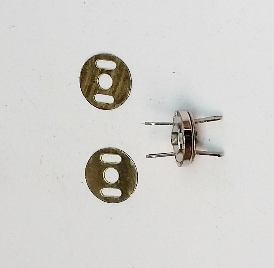 Botão Magnético 10,5mm Niquelado