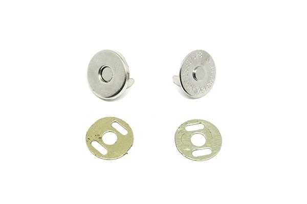 Botão Magnético 14,5mm Niquelado