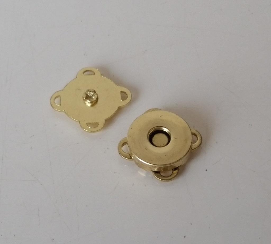 Botão Magnético p/ Costura 14mm Latonado
