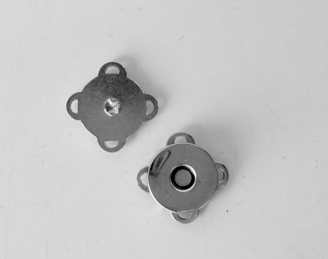 Botão Magnético p/ Costura 14mm Niquelado