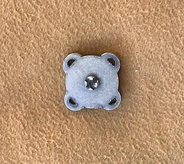 Botão Magnético p/ Costura 14mm Ouro Velho