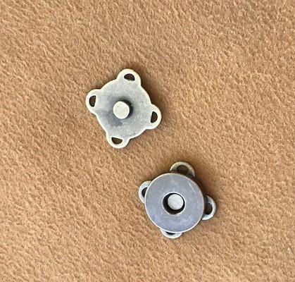 Botão Magnético p/ Costura Ouro Velho