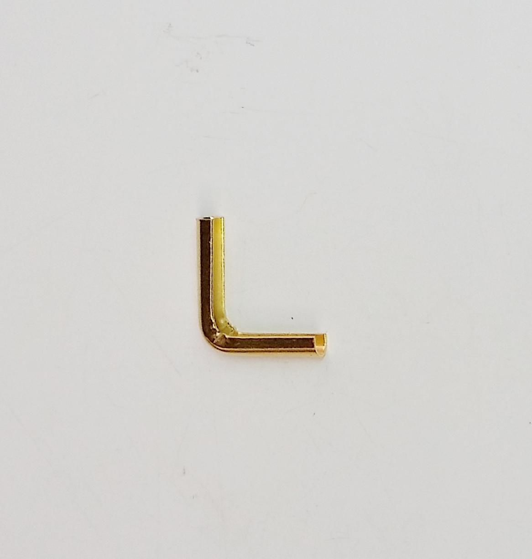 Cantoneira 14mm x 14mm Latonada