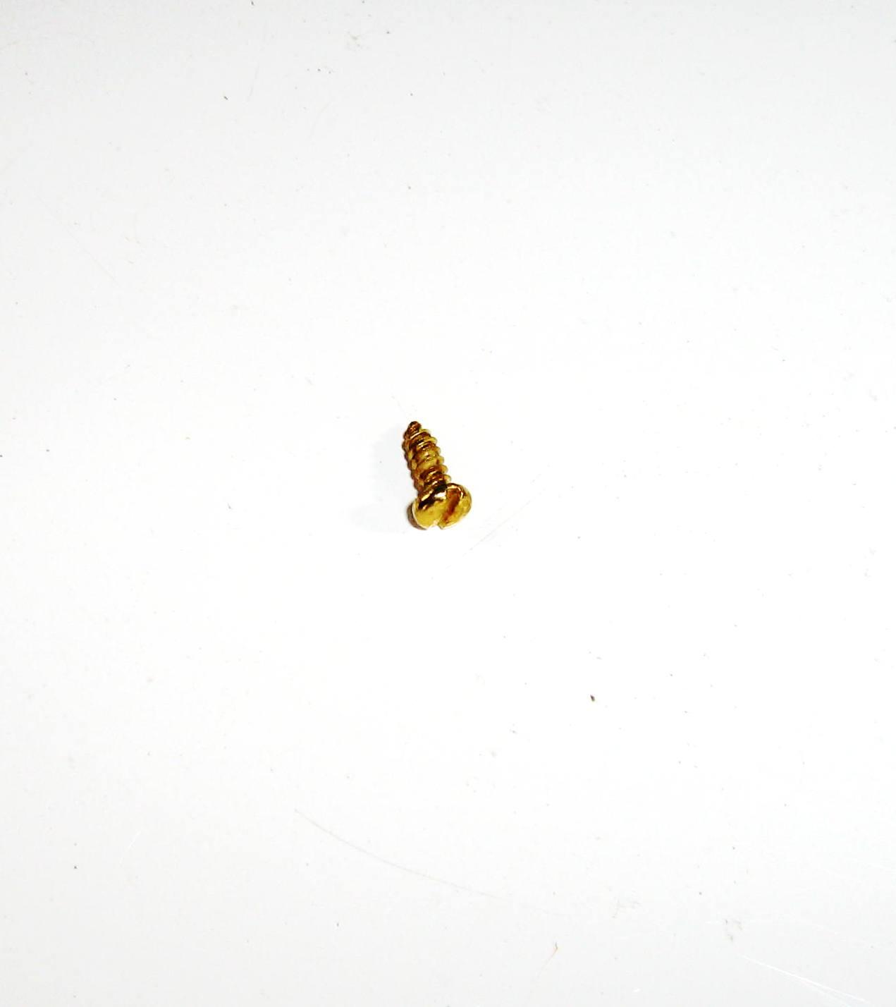 Fixador Fenda 6,5mm x 2,2mm Cabeça Redonda Latonado