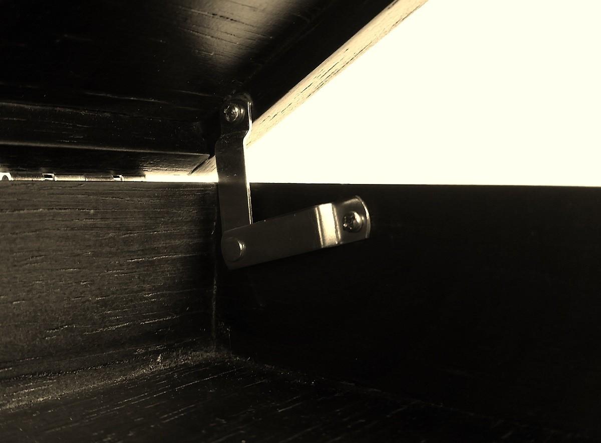 Limitador Articulado p/ Abertura de Caixas Niquelado