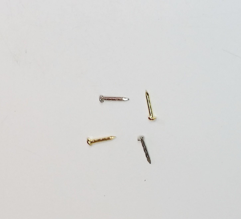 Prego Latão 6mm x 0,9mm Niquelado