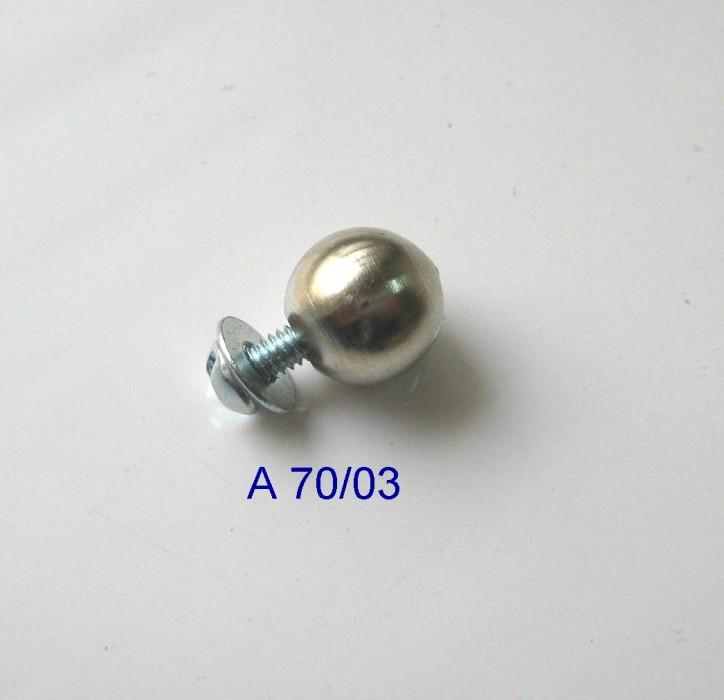 Puxador Latão Esfera 11mm Niquelado