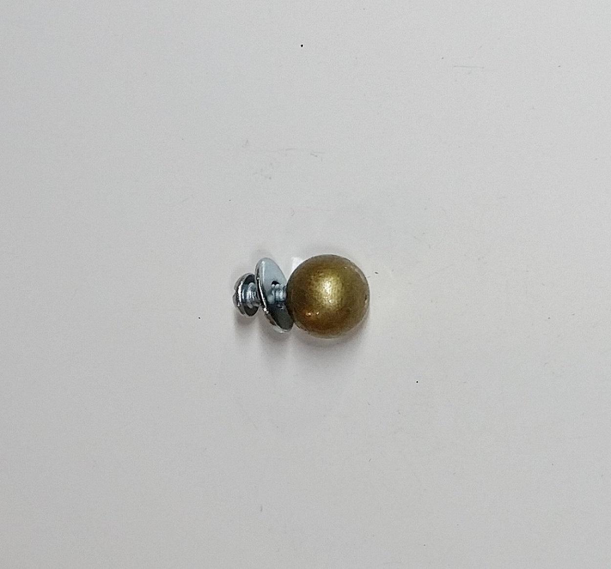 Puxador Latão Esfera 11mm Ouro Velho