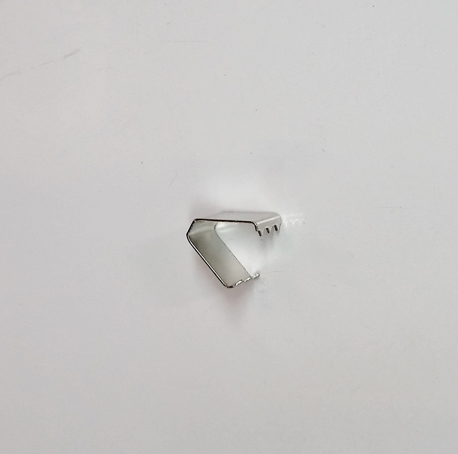 Remate de Alça 11mm c/ Garra Dentada Niquelado
