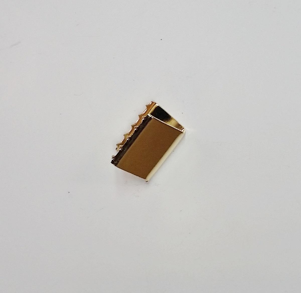 Remate de Alça 18mm c/ Garra Dentada Latonado