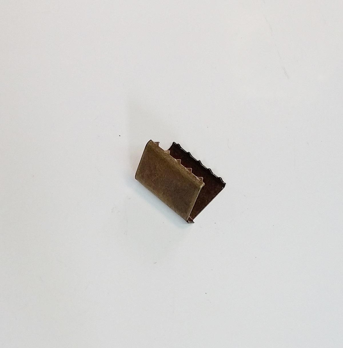Remate de Alça 18mm c/ Garra Dentada Ouro Velho