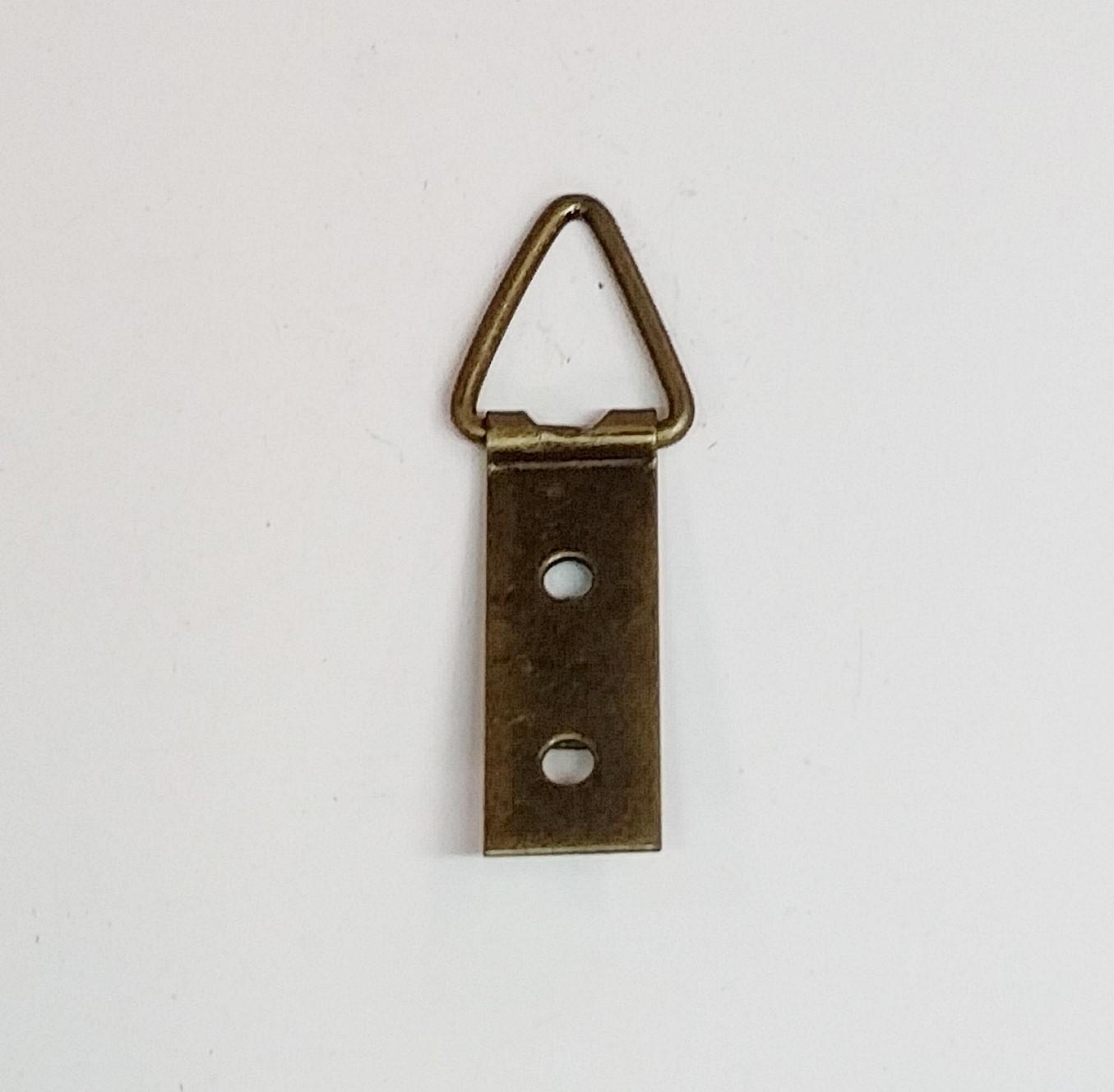 Suporte p/ Quadros 10mm x 42mm 2 Furos Ouro Velho