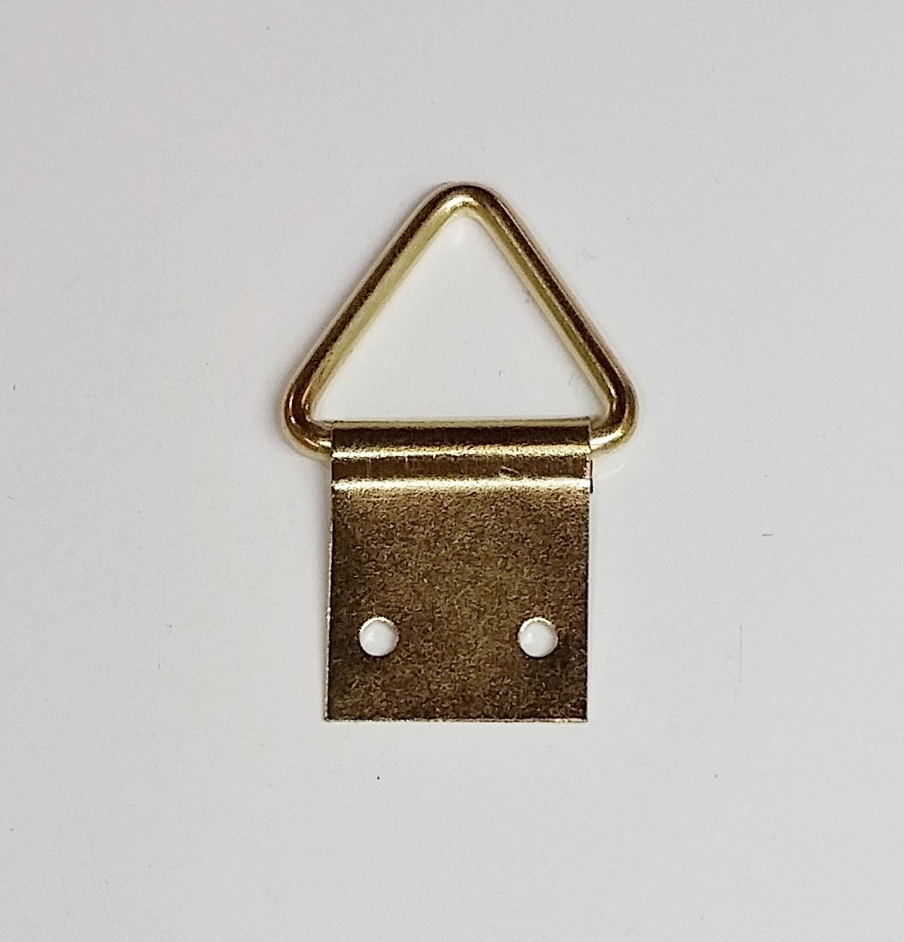 Suporte p/ Quadros Triângulo 18mm x 41mm Latonado
