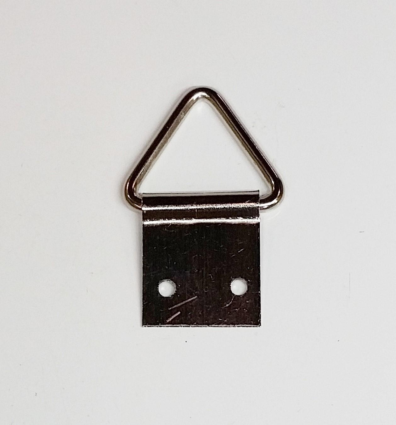 Suporte p/ Quadros Triângulo 18mm x 41mm Niquelado