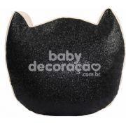 Almofada Decorativa Katze Glitter Preta