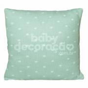 Almofada Decorativa Quadrada Tricot Elliot Verde menta com branco