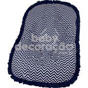 Capa de Bebê Conforto Nacional até 13kg - Chevron Azul Marinho