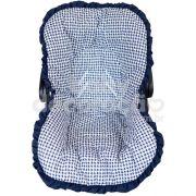 Capa de Bebê Conforto Nacional até 13kg - Luigi Azul Marinho