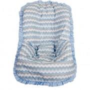 Capa de Bebê Conforto Nacional até 13kg - Holly Azul Bebê