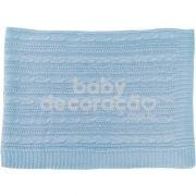 Cobre Leito Para Berço Tricot Lauren Azul bebê