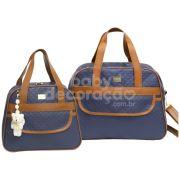 Conjunto de Bolsas 2 Peças Paris Azul Marinho