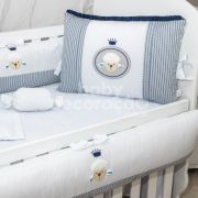 Kit de Berço 09 Peças Baby Love Azul Marinho Brubrelel Baby
