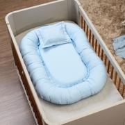 Ninho Multifunções Master (104cm x 70cm) Percal 300 Fios Azul Bebê