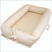 Ninho para bebê redutor de berço Percal Off White