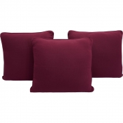 Trio de Almofadas Para Cama Auxiliar Tricot Magenta Purple