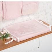 Trocador Anatômico Para Bebê Percal 300 Fios Lelis Rose Nude