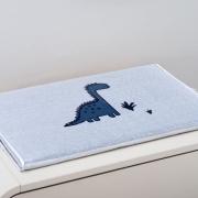 Trocador Para Bebê Espuma Baby Trico Amiguinho Dino Branco c/ Azul Marinho