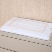 Trocador Para Cômoda Para Bebê Percal 300 Fios Basic Branco com Off White