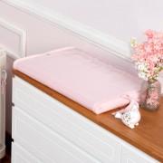 Trocador Para Bebê Espuma Tricot Meia Malha Rosa