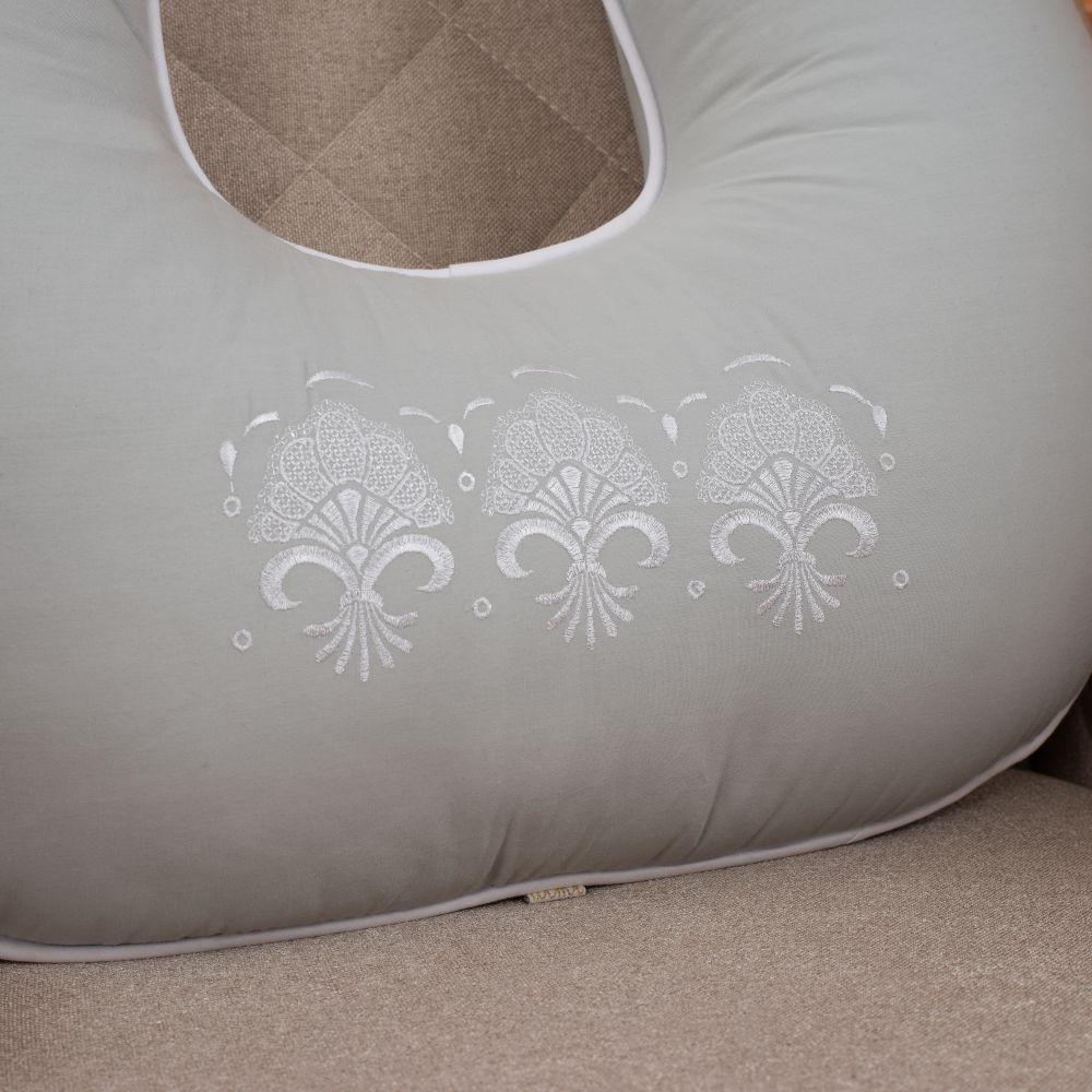 Almofada de Amamentação para Bebê 300 Fios Elegance Cinza