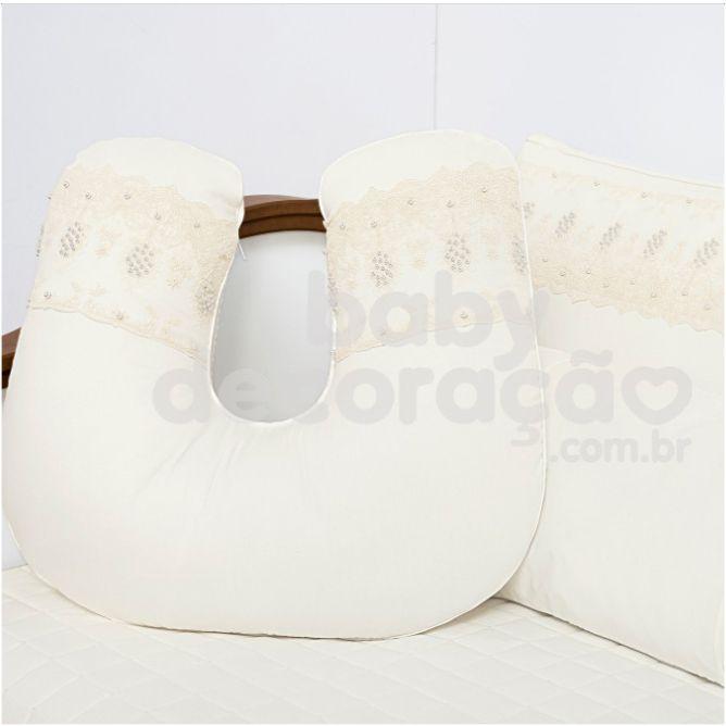 Almofada de Amamentação para Bebê 300 Fios Lelis  Marfim