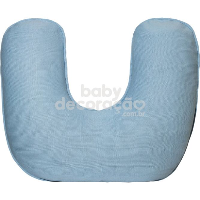 Almofada de Amamentação para Bebê Tricot Azul bebê